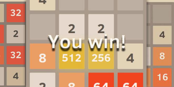 2048: um jogo viciante de raciocínio matemático