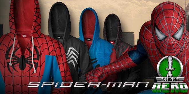 Moletons do Homem-Aranha que deixarão os Nerds subindo pelas paredes para querer o seu