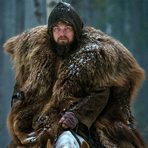 DiCaprio e o casaco de pele de urso