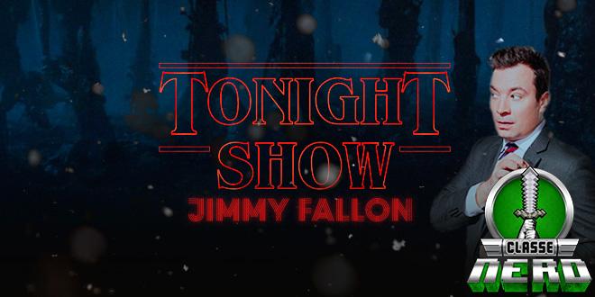 Elenco mirim de Stranger Things comenta cena de beijo e se diverte no programa de Jimmy Fallon