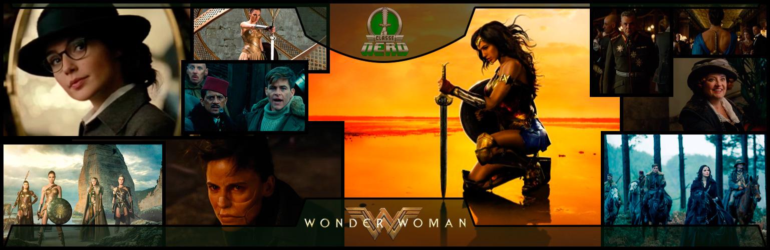 Imagem mostrando diversas cenas do filme Mulher-Maravilha