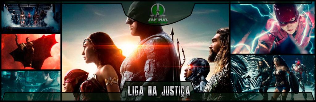 imagem mostrando diversas cenas do filme da liga da justiça