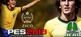 Zico é apresentado como Jogador Lendário e Embaixador de PES 2018 pela Konami